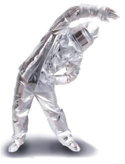 銀色の作業服